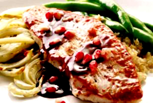 Pomegranate-Glazed-Turkey-With-Roasted-Fennel